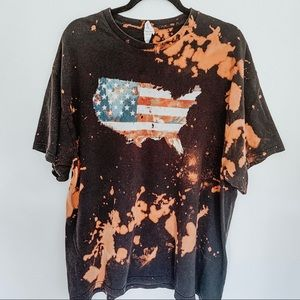 United States Of America Bleached T-Shirt